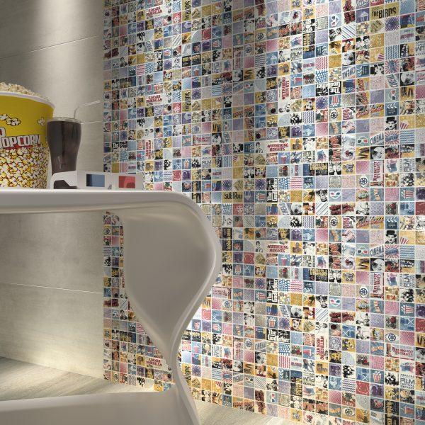 Dune Popcorn tile, wall shot, Edinburgh Tile Studio