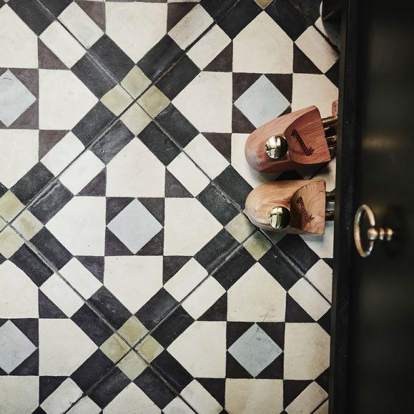 Marrakech Design Mats Theselius Raval V Encaustic.  Pinnochio's feet.  Edinburgh Tile Studio.