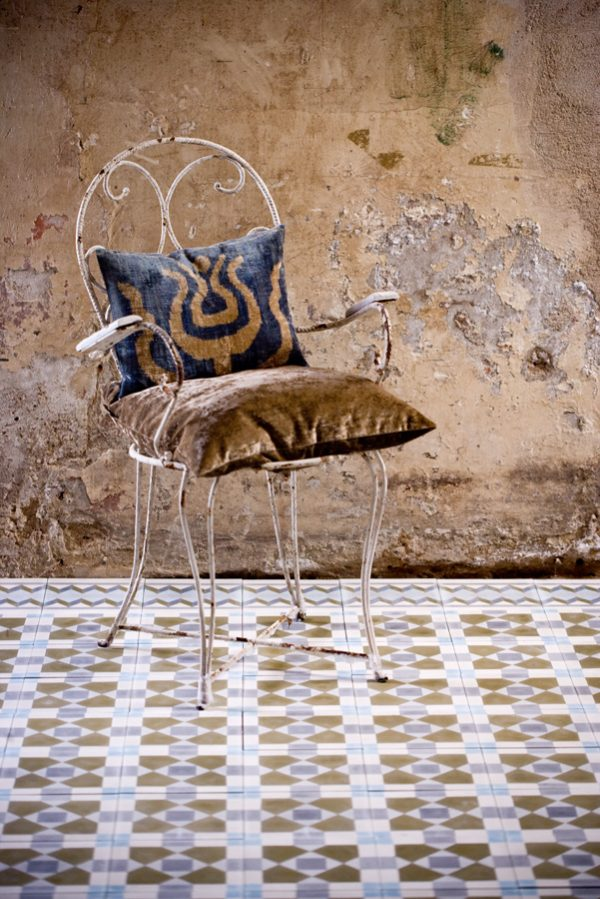 Marrakech Design Mats Theselius Raval IV Encaustic.  Where's Baudrillard with his cloth?  Edinburgh Tile Studio.
