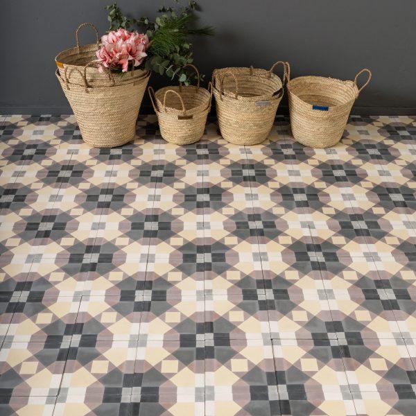 Marrakech Design Mats Theselius Raval Angels Encaustic, floor shot, Edinburgh Tile Studio