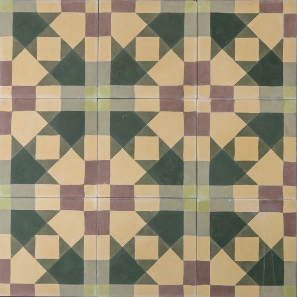 Marrakech Design Mats Theselius Raval Carretes Encaustic, closeup shot, Edinburgh Tile Studio.