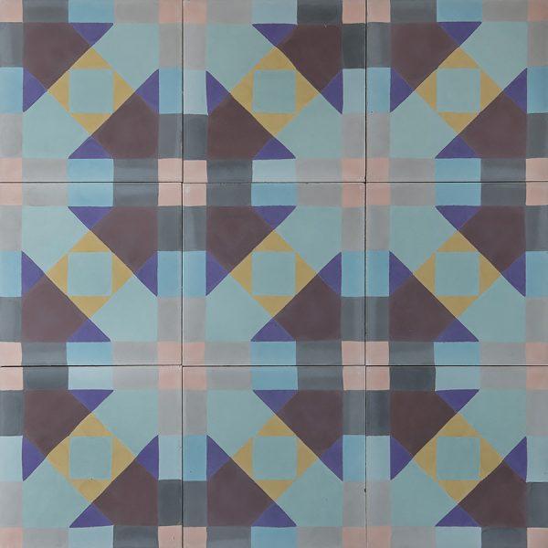 Marrakech Design Mats Theselius Raval Ferlandina Encaustic, 3 x 3 tiles. Edinburgh Tile Studio.