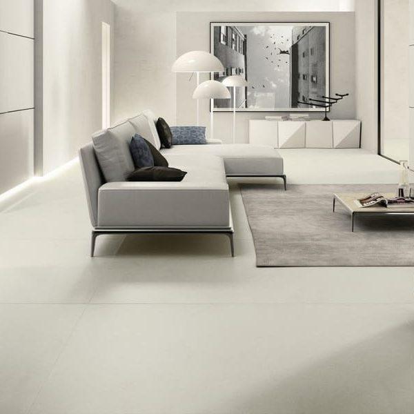 Graniti Fiandre Taxos Maximum porcelain.  Room shot.  Edinburgh Tile Studio.