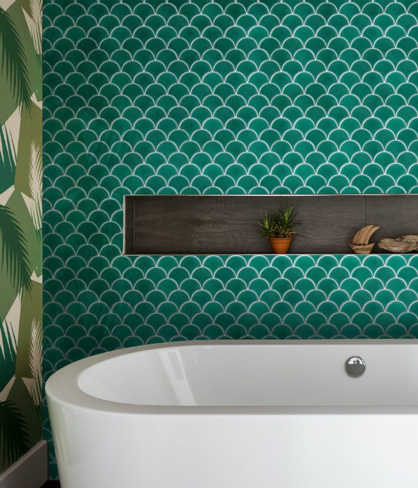 Ca' Pietra Atlantis Scallop. Emerald. Edinburgh Tile Studio.