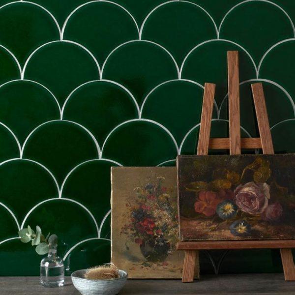 Marlborough Handpainted.  Soho SoEmerald.  Edinburgh Tile Studio.