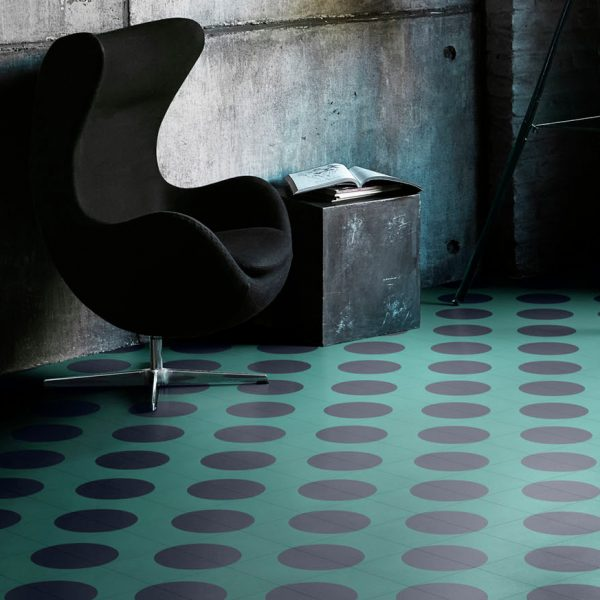 Bisazza Dot cementile.  Dot 5 colourway.  Room Shot.  Edinburgh Tile Studio.