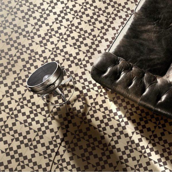 Bisazza Domino cementile.  Domino 10 colourway.  Room Shot.  Edinburgh Tile Studio.