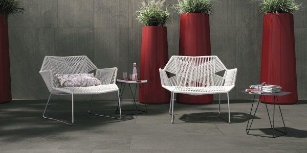 Graniti Fiandre Ashy Core Shade room shot.  Edinburgh Tile Studio..