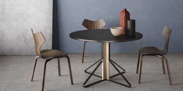 Graniti Fiandre Grey Fjord room shot.  Edinburgh Tile Studio..