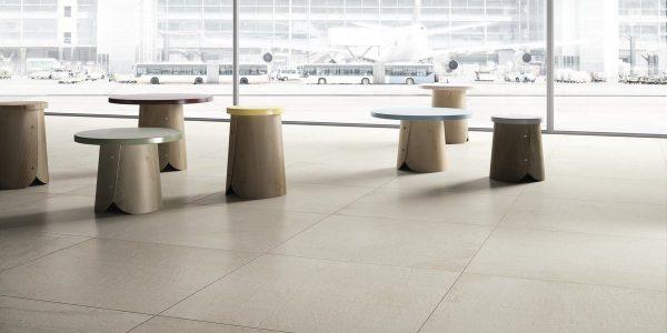 Graniti Fiandre Plain Core Shade room shot.  Edinburgh Tile Studio..