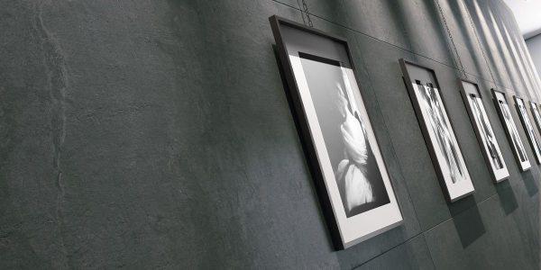 Graniti Fiandre Sharp Core Shade room shot.  Edinburgh Tile Studio..