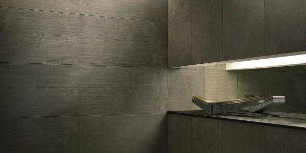 Graniti Fiandre Snug Core Shade room shot.  Edinburgh Tile Studio..