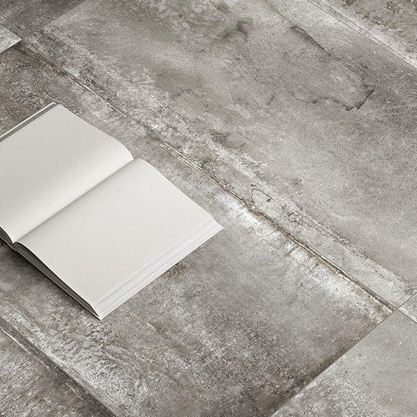 Graniti Fiandre Magneto Carbon room shot.  Edinburgh Tile Studio..