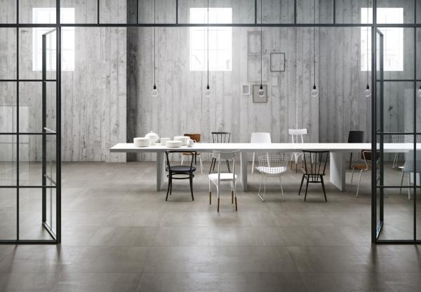 Graniti Fiandre 500F Frost Fahrenheit room shot.  Edinburgh Tile Studio..