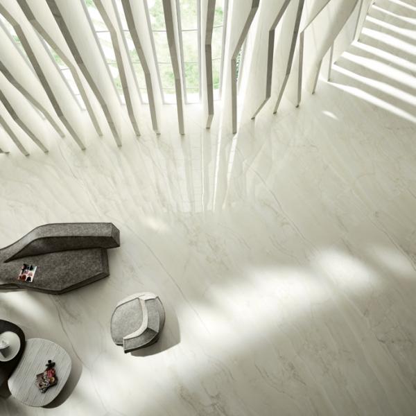 Graniti Fiandre Bright Onyx Maximum room shot.  Edinburgh Tile Studio..
