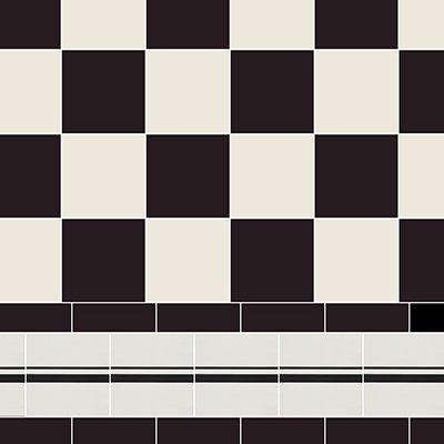 Original Style Victorian Floor Range.Classic Check  Cambridge.  Edinburgh Tile Studio.