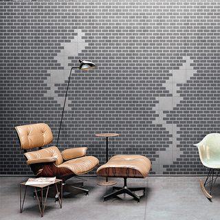 Bisazza Wall Grey cementile pattern.  Edinburgh Tile Studio.
