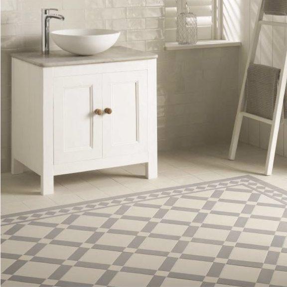 Original Style Victorian Floor Range. Geometric Falkirk.  Edinburgh Tile Studio.