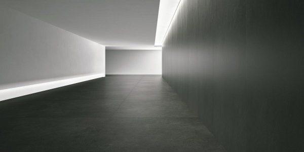 Graniti Fiandre Moon Aster Maximum room shot.  Edinburgh Tile Studio..