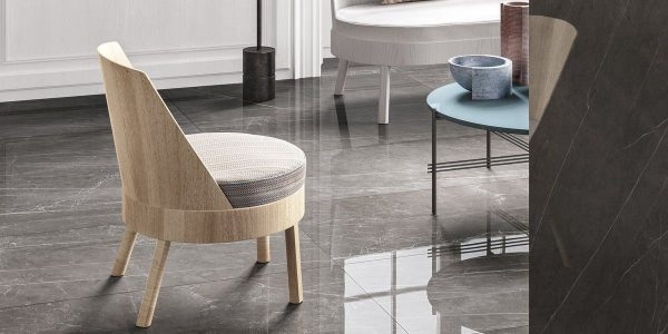 Graniti Fiandre Pietra Grey Marble Lab room shot.  Edinburgh Tile Studio..