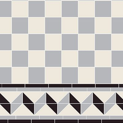 Original Style Victorian Floor Range. Classic Check  Wellington.  Edinburgh Tile Studio.