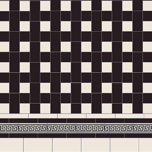 Original Style Victorian Floor Range. Geometric Ambleside.  Edinburgh Tile Studio.