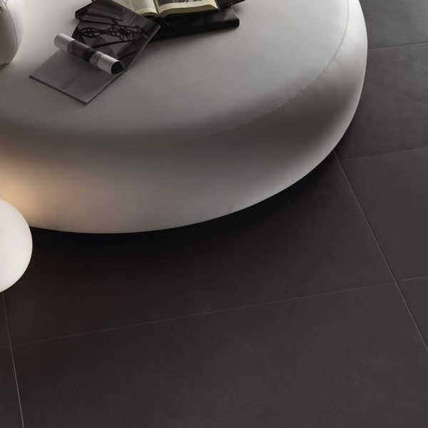Graniti Fiandre New Ground Anthracite room shot.  Edinburgh Tile Studio..
