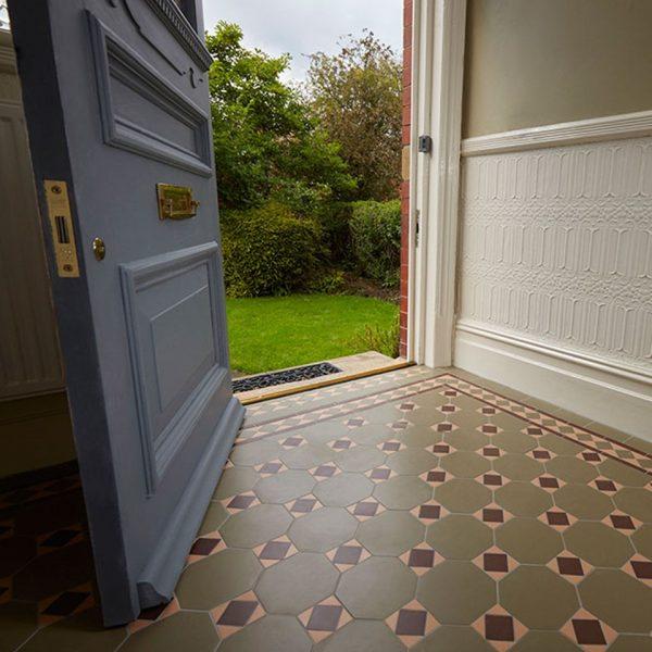 Original Style Victorian Floor Range. Diamonds Arundel.  Edinburgh Tile Studio.