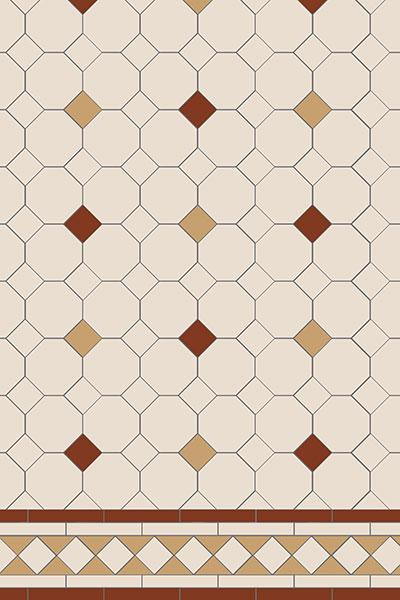 Original Style Victorian Floor Range. Diamonds Ashbourne.  Edinburgh Tile Studio.