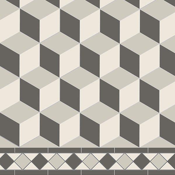 Original Style Victorian Floor Range. Diamonds Bloomsbury.  Edinburgh Tile Studio.
