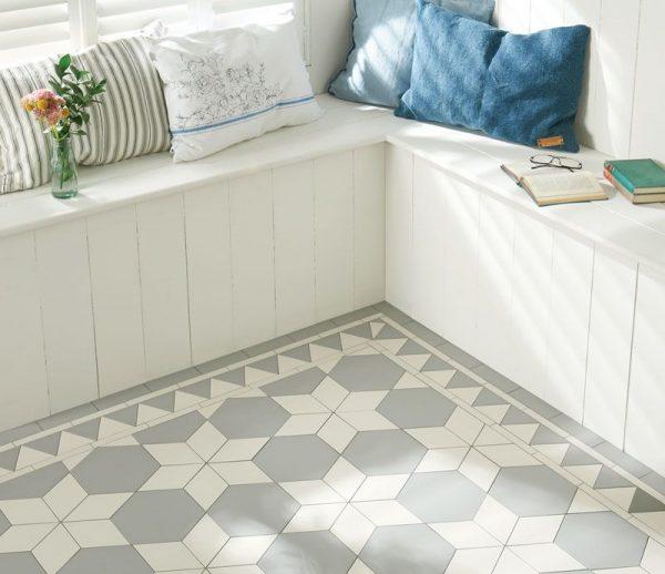 Original Style Victorian Floor Range. Diamonds Carlisle.  Edinburgh Tile Studio.