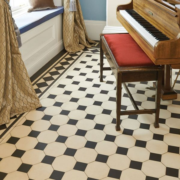 Original Style Victorian Floor Range. Diamonds Chesterfield.  Edinburgh Tile Studio.