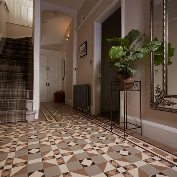 Original Style Victorian Floor Range. Impressions Colchester.  Edinburgh Tile Studio.