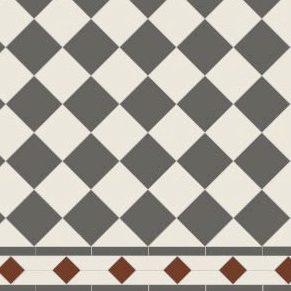 Original Style Victorian Floor Range. Classic Check  Dorchester.  Edinburgh Tile Studio.