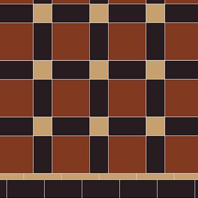 Original Style Victorian Floor Range. Geometric Edinburgh.  Edinburgh Tile Studio.