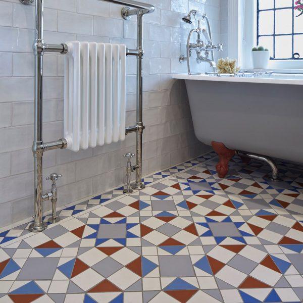 Original Style Victorian Floor Range. Timeless Eltham.  Edinburgh Tile Studio.