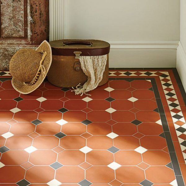 Original Style Victorian Floor Range. Diamonds Harrogate.  Edinburgh Tile Studio.