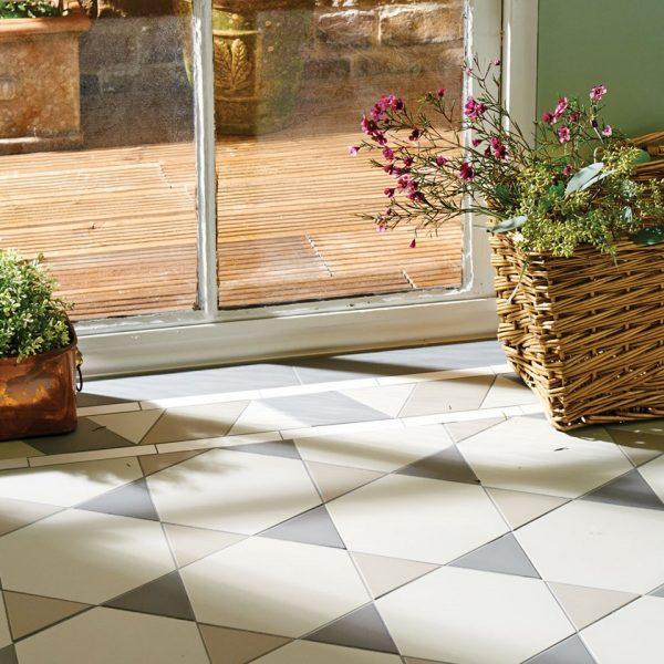 Original Style Victorian Floor Range. Diamonds Hexham.  Edinburgh Tile Studio.