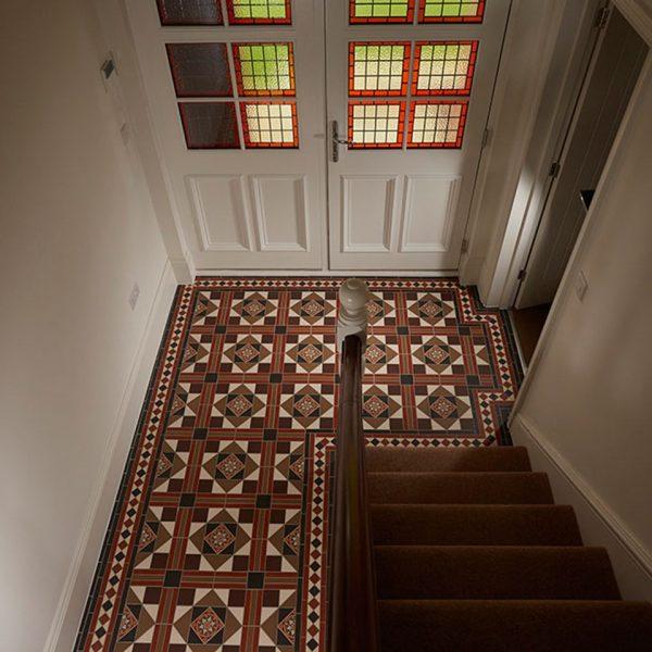 Original Style Victorian Floor Range. Diamonds lindisfarne.  Edinburgh Tile Studio.