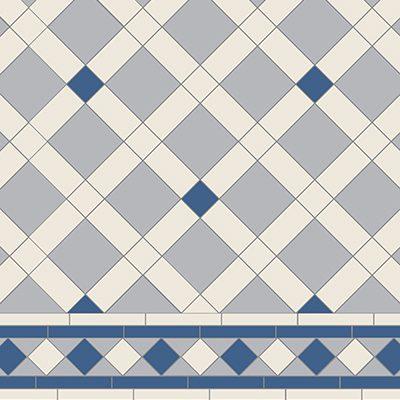 Original Style Victorian Floor Range. Geometric Norwich.  Edinburgh Tile Studio.
