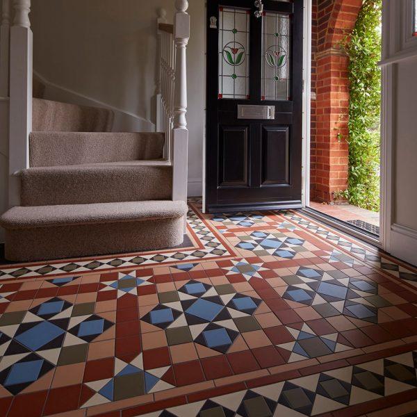 Original Style Victorian Floor Range. Diamonds Osborne.  Edinburgh Tile Studio.