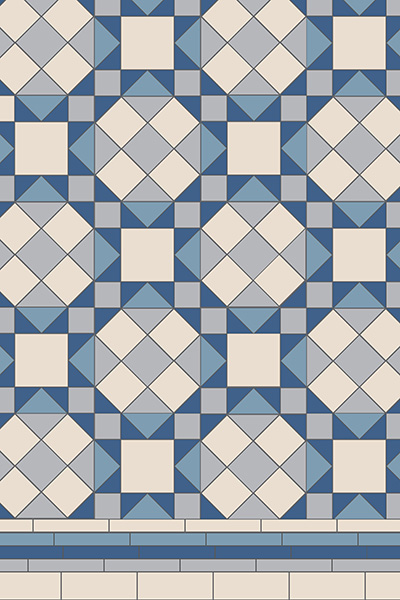 Original Style Victorian Floor Range. Timeless savoy.  Edinburgh Tile Studio.