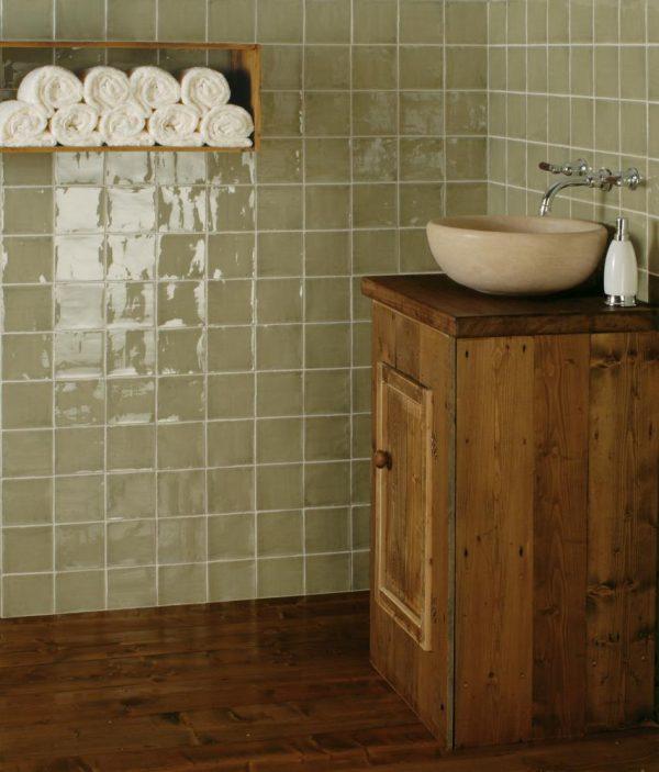Winchester Residence Arcadian Sedge.  Edinburgh Tile Studio.