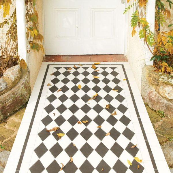 Original Style Victorian Floor Range. Diamonds St Andrews.  Edinburgh Tile Studio.