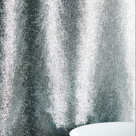 Original Style Glassworks Large Format. Aurora Borealis Dark Silver. Edinburgh Tile Studio.