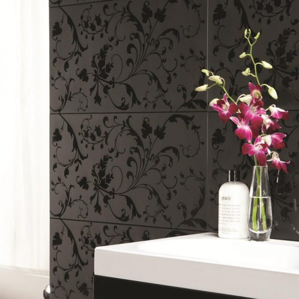Original Style Glassworks Large Format. Beauville Black Negative. Edinburgh Tile Studio.
