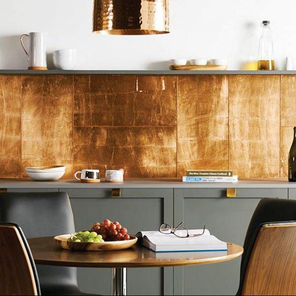 Original Style Glassworks Large Format. Copper Leaf. Edinburgh Tile Studio.