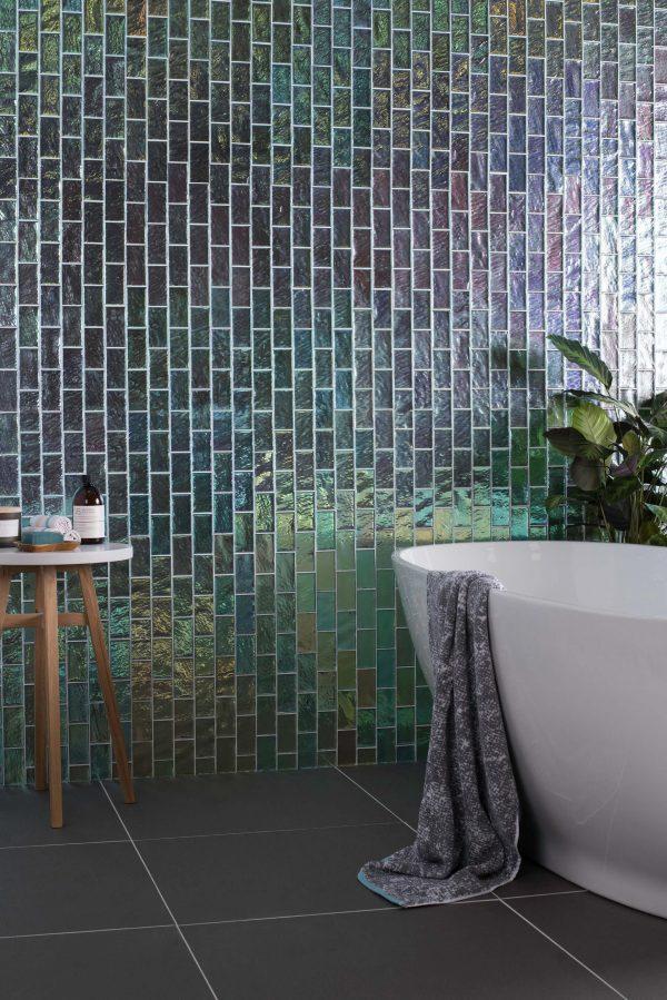 Original Style Glassworks Cast Glass.  Silver Gloss Brick.  Edinburgh Tile Studio.