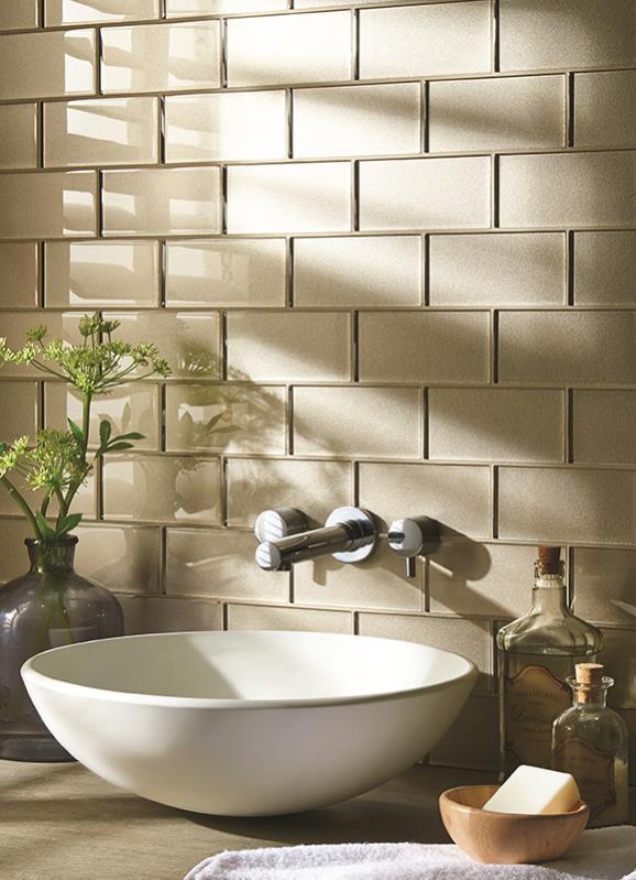 Original Style Glassworks metallic Effect.  starcia. Edinburgh Tile Studio.