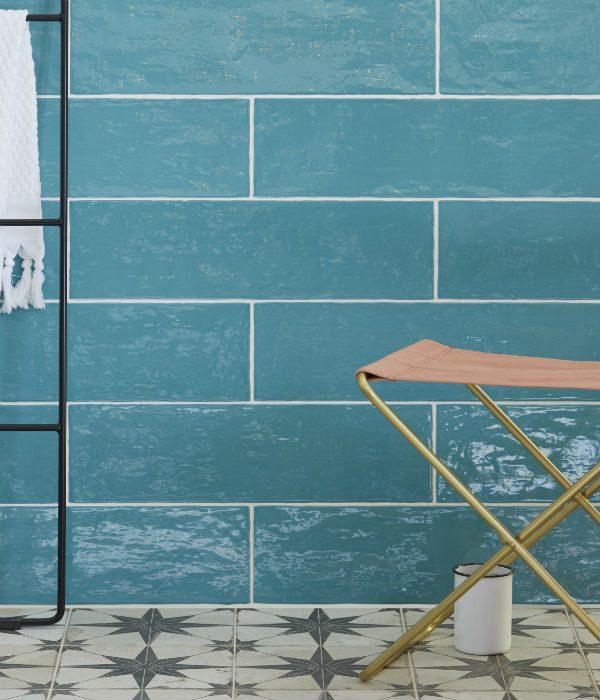 Ca' Pietra Avebury Teal.  Edinburgh Tile Studio.